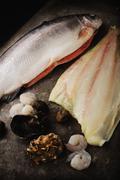 Fish and shellfish Stock Photos
