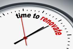 Stock Illustration of time to renew
