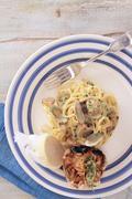 shellfish clam lingu - stock photo
