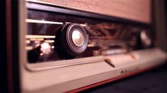 Stock Video Footage of vintage 60s radio