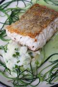 cod with monks beard - stock photo