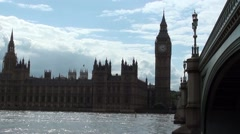 Westminster London Sunny and Rainning Stock Footage