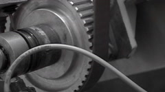 Part of Industrial mechanic machine - stock footage