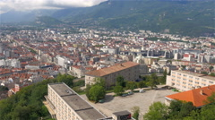 Beautiful city of Grenoble in France Stock Footage
