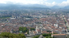 The beauty of the city of Grenoble on a skyview Stock Footage