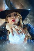 Magic girl Stock Photos