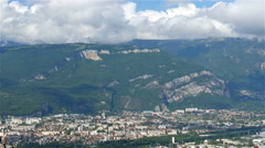 The view of the mountain on the other side of Grenoble Stock Footage