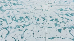 Arctic Landscape From Above Snow Covered Blue Water Arkistovideo