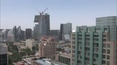 CCTV tower, construction, modern China Stock Footage