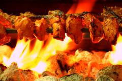 Traditional grilled Chicken Tikka - stock photo