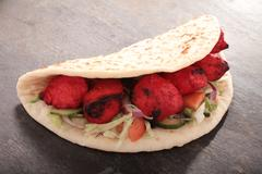 indian donner wrap - stock photo
