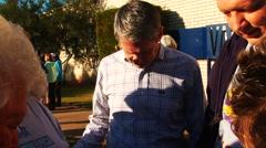 Prayer rally with Lousiana Senator David Vitter - stock footage