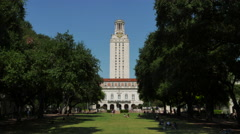 4K University of Texas at Austin, wide main building Stock Footage