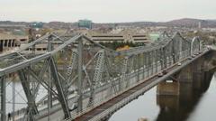 The Royal Alexandra Interprovincial Bridge, Ottawa, Ontario and Gatineau, Quebec Stock Footage