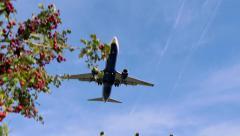 Ryanair Jet Plane Boeing 737-8AS Approaching Landing Stock Footage