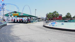 Panama City Beach Florida attraction called RACE CITY go kart cars and track Stock Footage