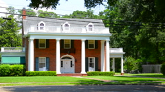 Alexandria Louisana old southern Colonial home on Jackson Street for the Old Stock Footage