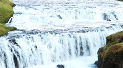 Waterfall in Skogafoss, Iceland - stock footage