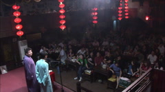 Chinese theater, audience, Beijing, China Stock Footage