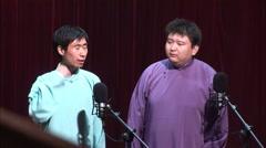 Chinese crosstalk comedy, Beijing, China - stock footage