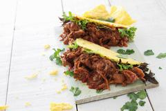 Pulled pork taco Stock Photos