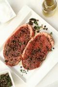 meat steak sirloin (8) - stock photo