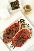 meat steak sirloin (6) - stock photo