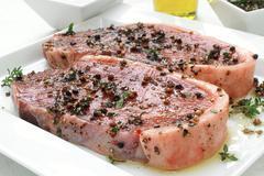 meat steak sirloin (3) - stock photo
