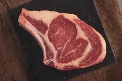 Stock Photo of raw uncooked beef steak