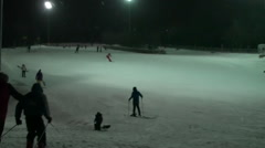 Skiing Winter Entertainment - stock footage