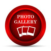 Stock Illustration of Photo gallery icon. Internet button on white background..