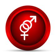 Stock Illustration of Sex icon. Internet button on white background..
