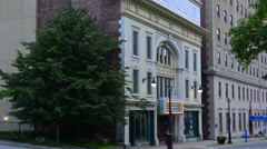 Canada Saint John New Brunswick Kings Square famous Imperial Theatre built in Stock Footage