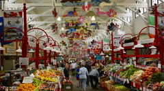 Canada Saint John New Brunswick famous City Market shops interior with food and Stock Footage