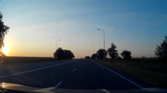 Sunset Sunny Road 30s - stock footage