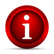 Stock Illustration of Info icon. Internet button on white background..