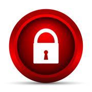 Stock Illustration of Lock icon. Internet button on white background..