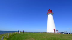 Canada Prince Edward Island, P.E.I. oldest lighthouse in PEI called Prim Point Stock Footage