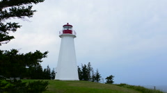 Canada Cape George Nova Scotia Antigonish Cape George Lighthouse a lighthouse at Stock Footage