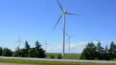 Canada Amherst  Nova Scotia highway Turbine electricity ecology wind power Trans - stock footage