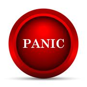Panic icon. Internet button on white background.. - stock illustration