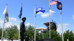 Pittsburgh Pennsylvania PA the new Law Enforcement Officers Enforcement memorial - stock footage