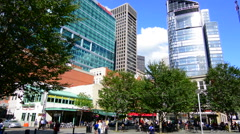 Pittsburgh Pennsylvania PA the Market Square downtown area of skyscrapers Stock Footage