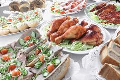Cold meat buffet Stock Photos