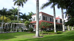 Thomas Edison inventor home and museum in Ft Myers Florida exterior of Main Stock Footage