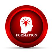 Formation icon. Internet button on white background.. Stock Illustration