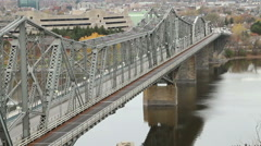 The Royal Alexandra Interprovincial Bridge, Ottawa, Ontario and Gatineau, Quebec Stock Footage