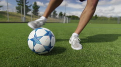 4K Talented young soccer player showing off his ball control skills.  - stock footage