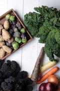 Seasonal vegetables selection Stock Photos
