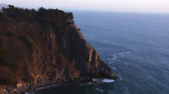 California seascape with cliff, Big Sur - stock footage